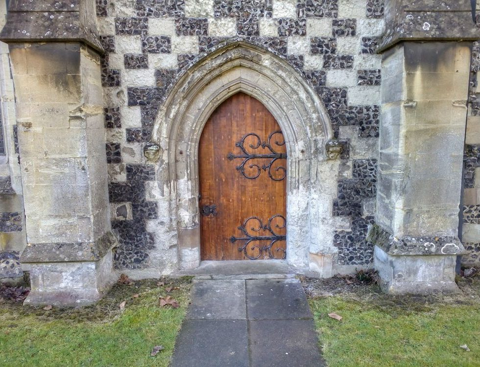 Church door, doors to the church, House of God