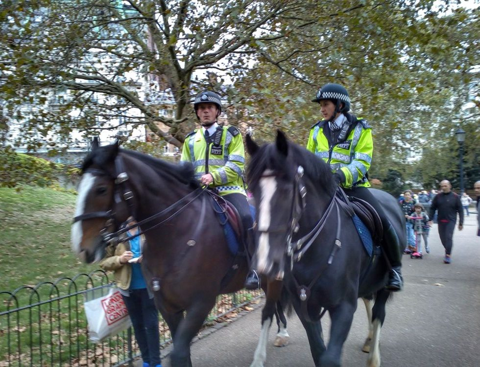 The London police riding